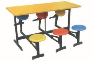 防火板折叠式快餐桌椅